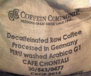カフェインレス ペルー